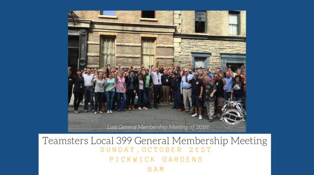 Teamsters Local 399 General Membership Meeting (1)