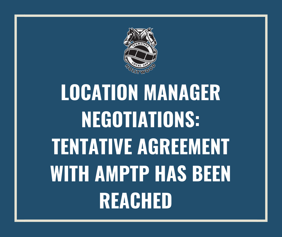2018 Location Manager Negotiations Tentative Agreement With Amptp